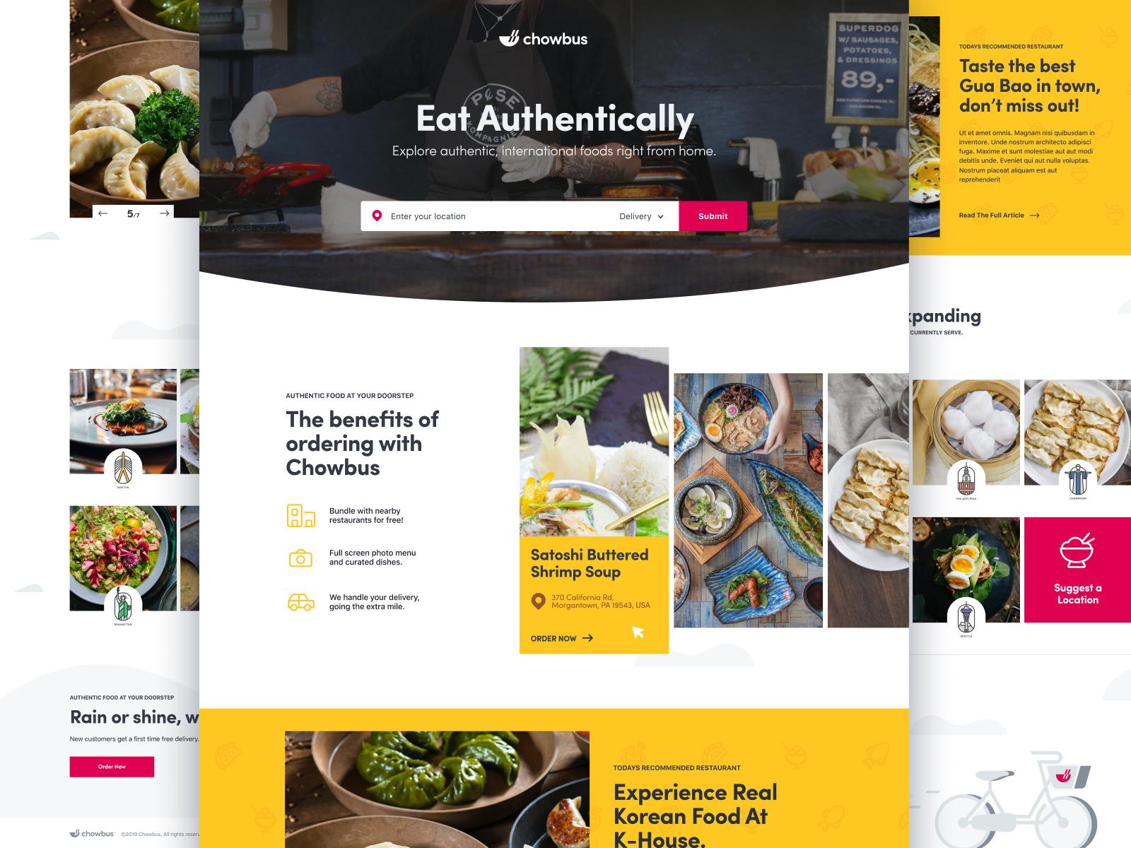 Chowbus Artist Branding Corporate Brochure Cover Graphic Design Trends