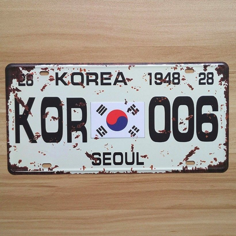 Vintage License Car Plates Metal Tin Signs Garage Painting Plaque ...