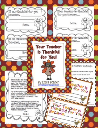 Updates, Thanksgiving FREEBIES, and Thanksgiving Served Up Common Core Style