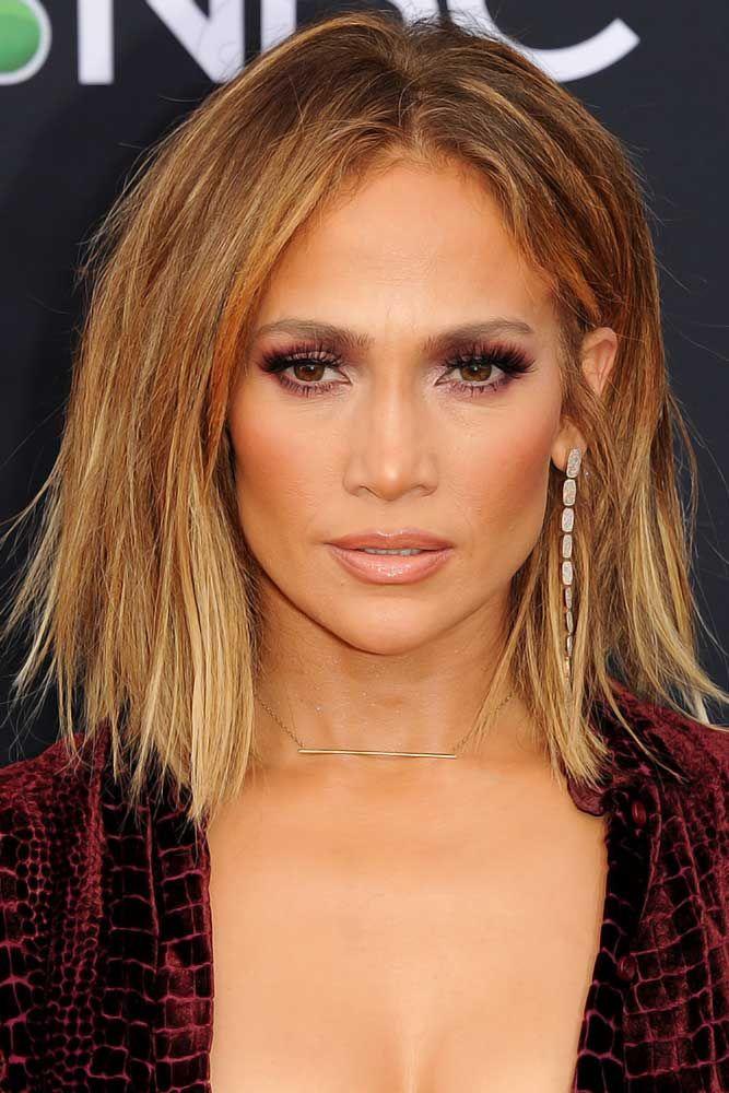 Bakarno svetlo smeđa boja kose - Dženifer Lopez