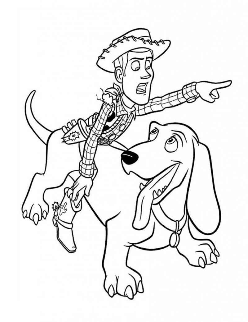 Woody From Toy Story Coloring Pages From Cartoon Coloring Pages