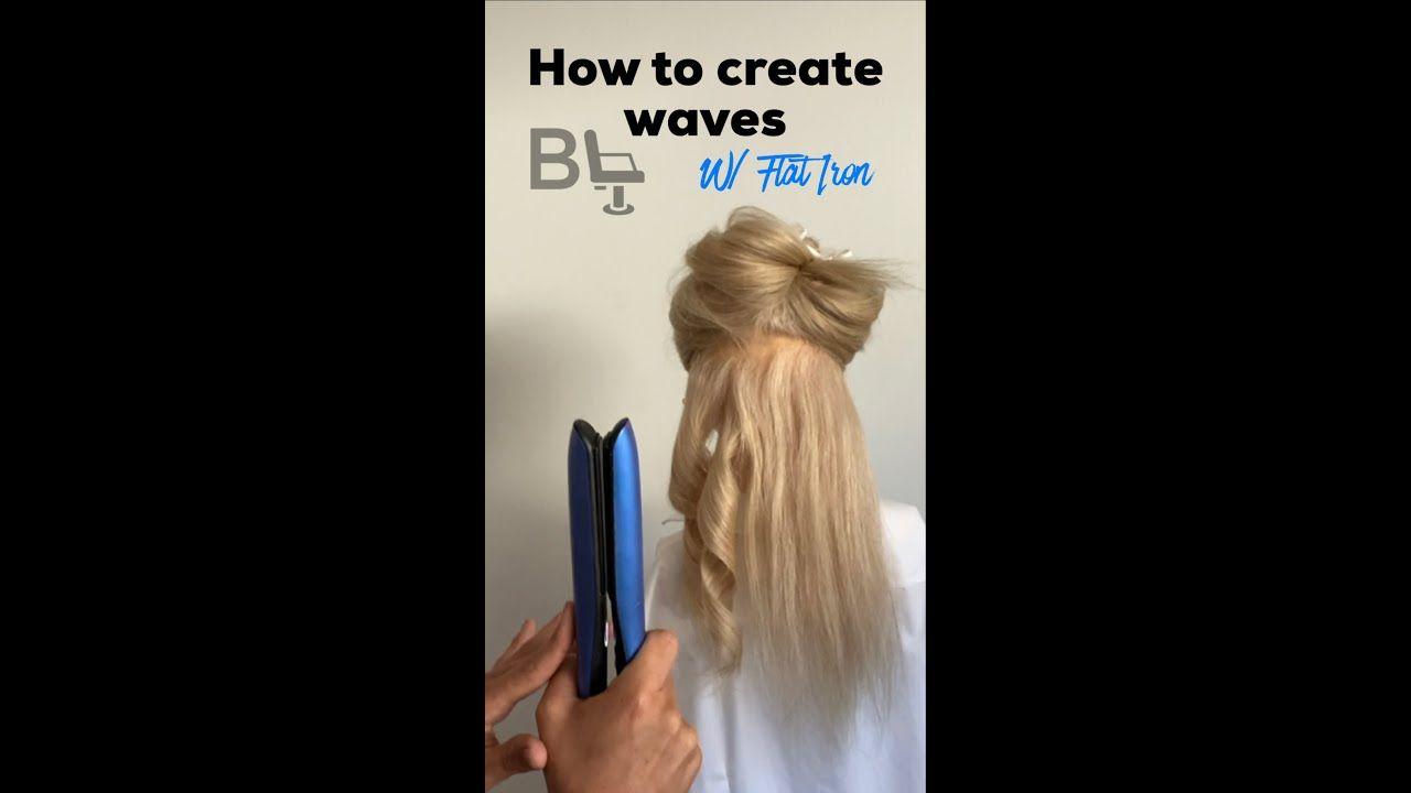 HOW TO: Natural Waves or beach waves using a flat iron
