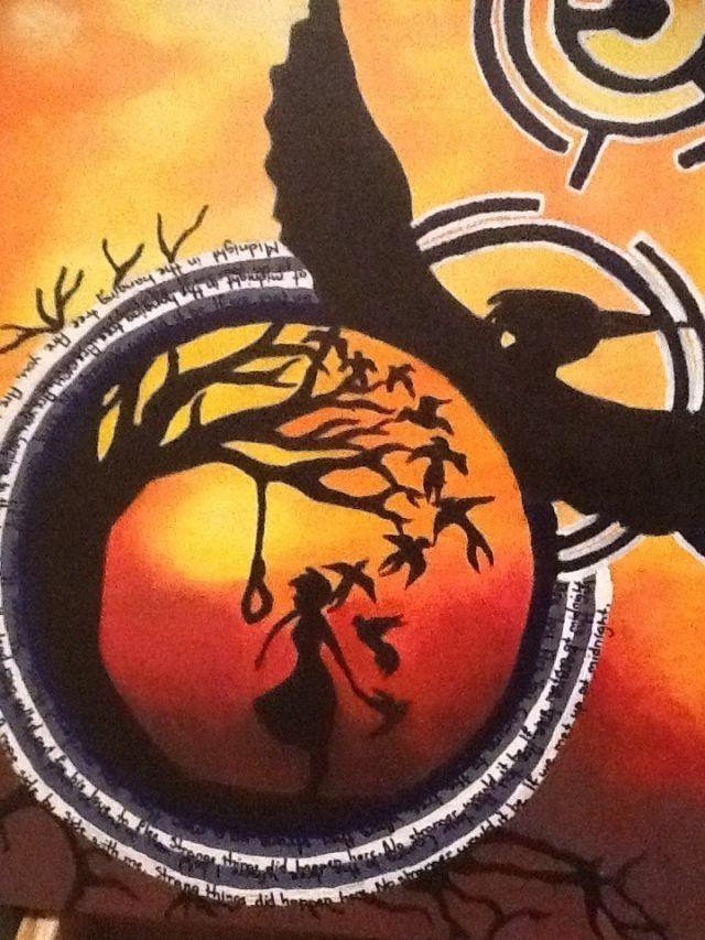 Hunger Games Fan Art Katniss Catching Fire Mocking Jay Bird