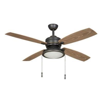 Outdoor Ceiling Fan Home Depot: Indoor/Outdoor Dark Restoration Bronze Ceiling Fan-14905,Lighting