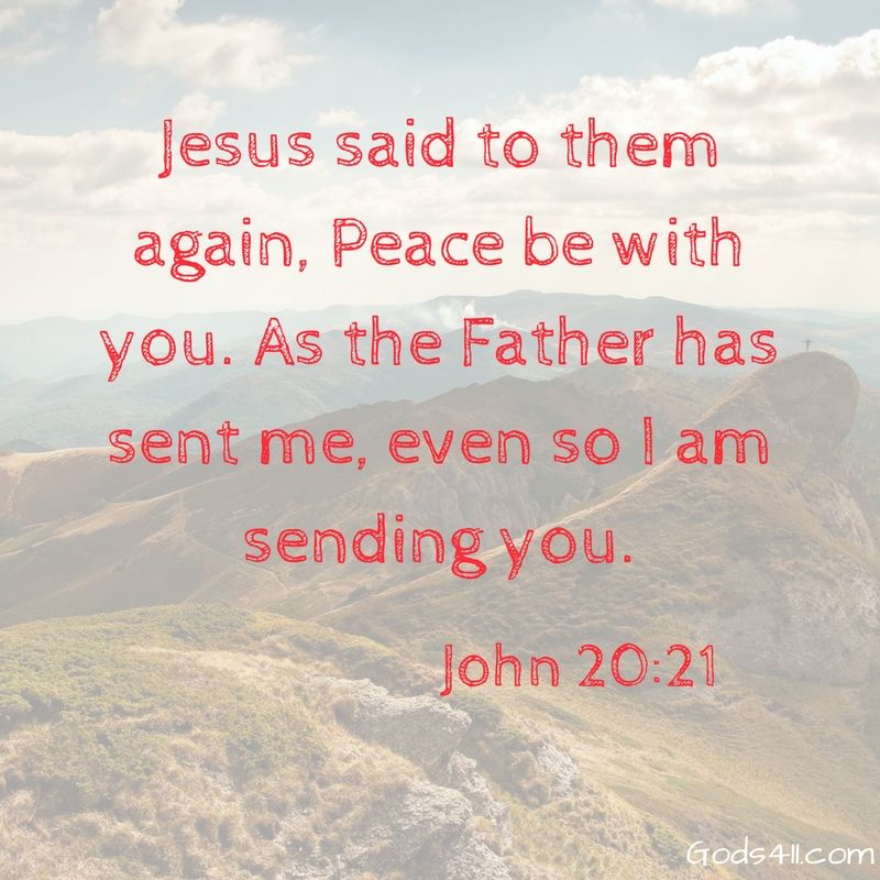 Jesus Said To Them Again Peace Be With You As The Father Has Sent