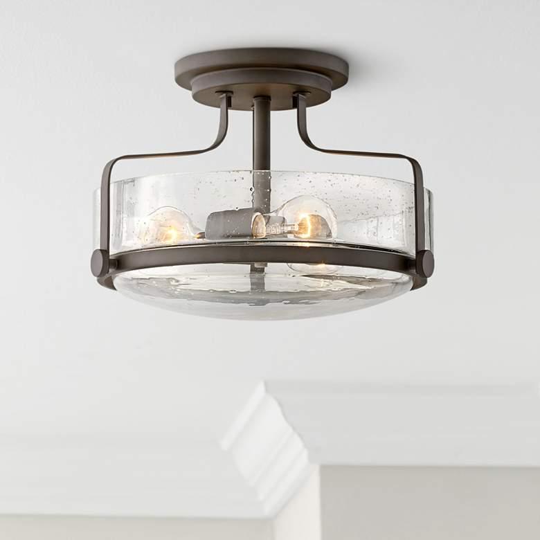 Harper 14 1 2 Wide Oil Rubbed Bronze 3 Light Ceiling Light 63j23 Lamps Plus Hallway Light Fixtures Farmhouse Ceiling Light Ceiling Lights