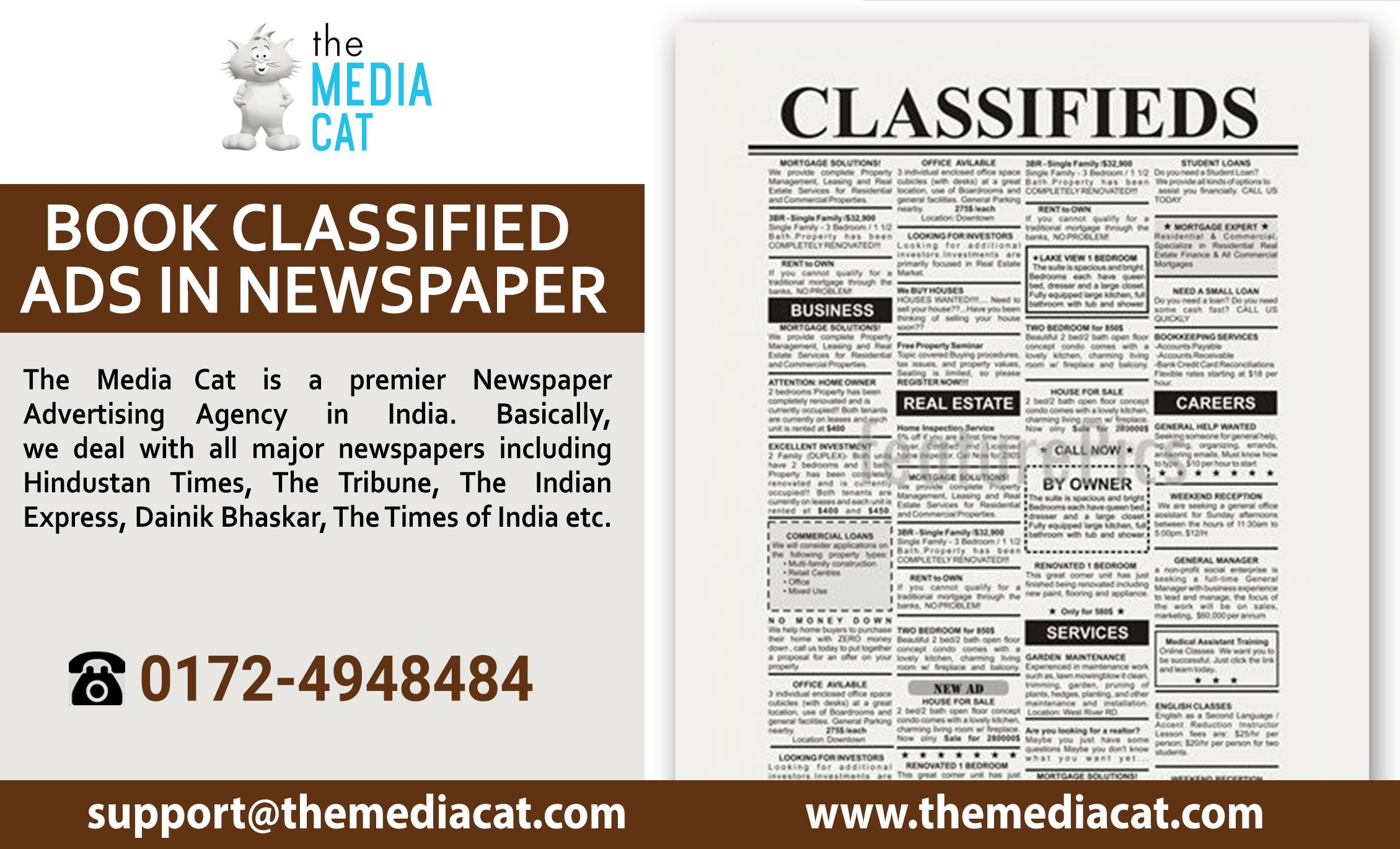 Now, Advertise your business by Classified Ads in Newspaper through