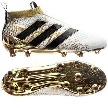 Adidas Ace 16 Purecontrol Fg Ag Stellar Pack White Core Black Gold Metallic Adidas Soccer Shoes Best Soccer Shoes Soccer Boots