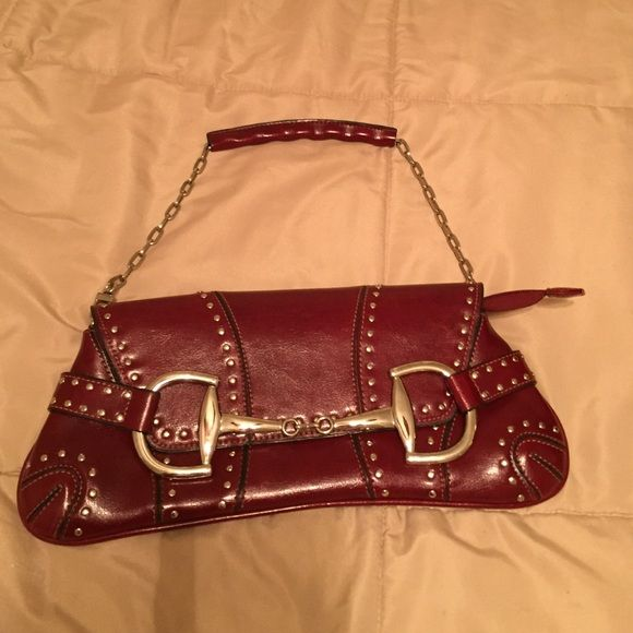 Rina Rich Bag Cute Chain Strap Silver Studded Buckle Purse Like New Bags Shoulder