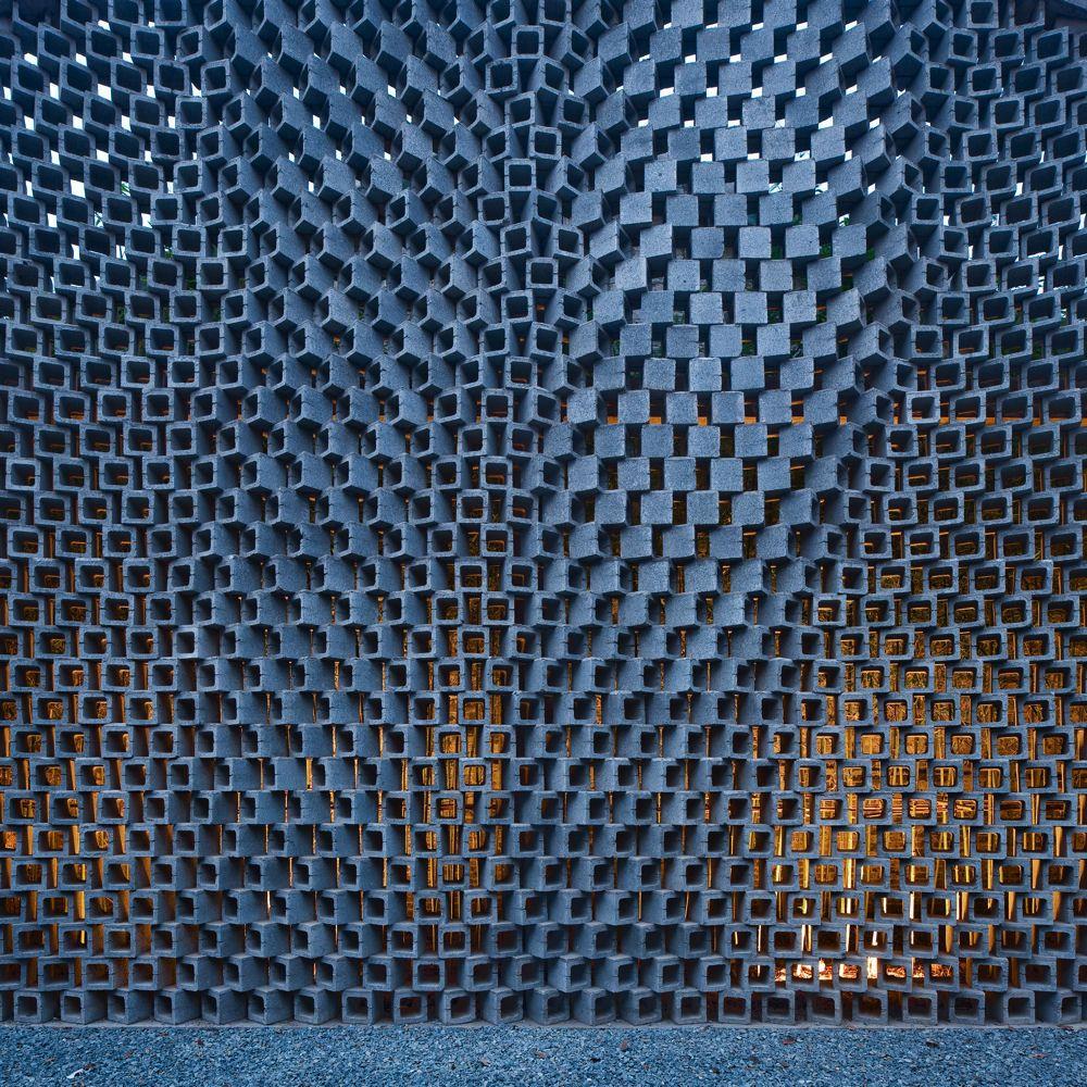 Facade brick pattern fachadas pinterest brick for Perforated brick wall
