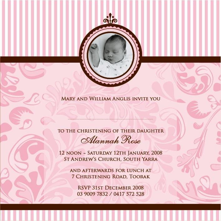 Religious Invitations Appealing Baptism And Christening Invitation
