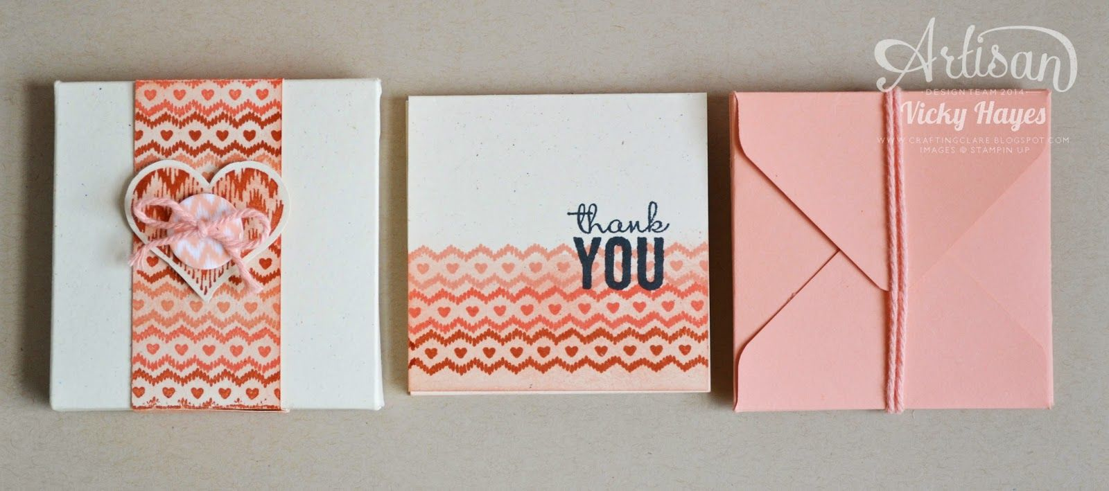 A box of note cards makes a lovely gift and this one takes no time thanks to the envelope and gift box punch boards! - Vicky Hayes