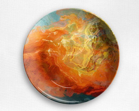 Abstract art plate unbreakable outdoor tableware microwave safe polymer plastic dinnerware (no melamine & Abstract art plate unbreakable outdoor tableware microwave safe ...