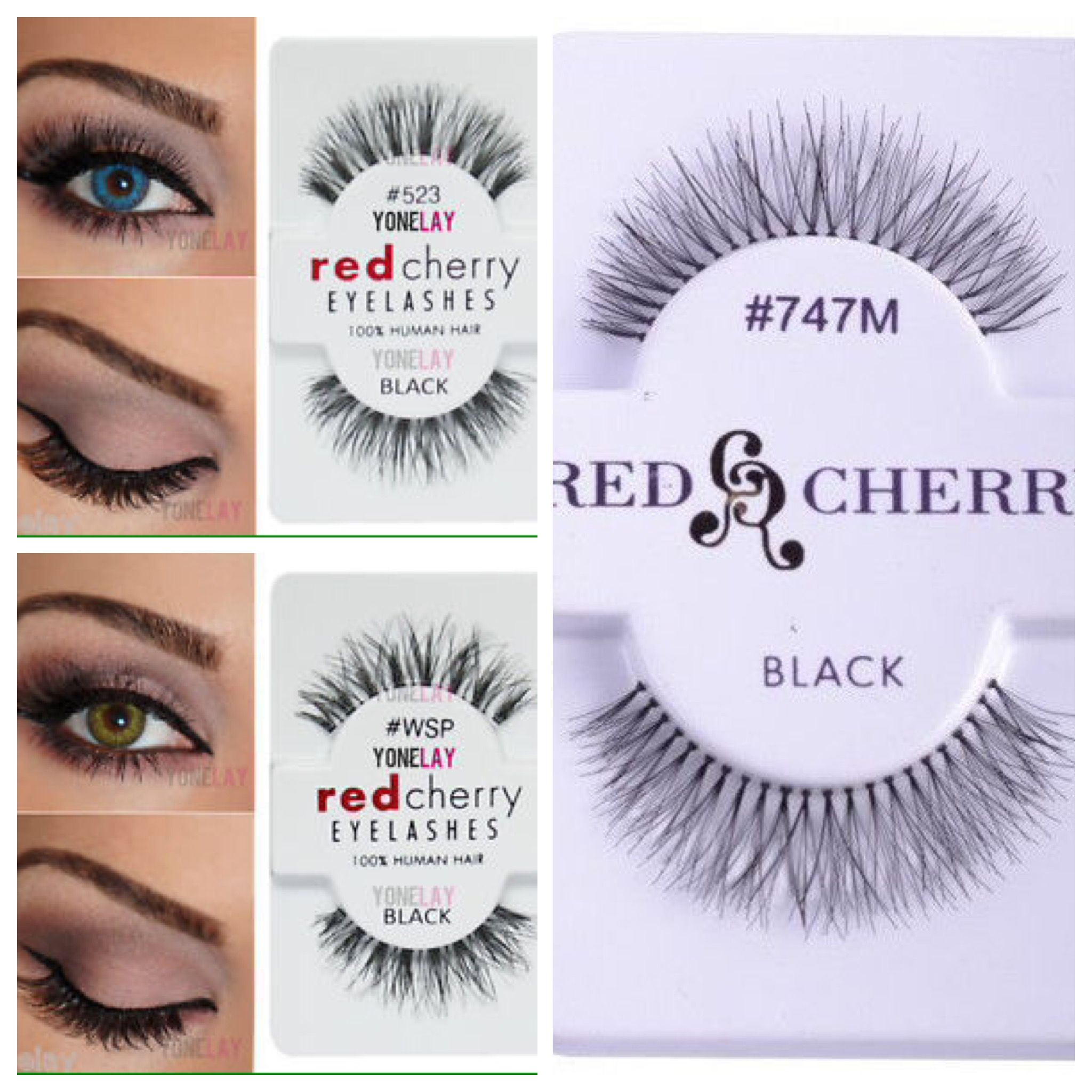 126943a96eb Red cherry lashes: #523, #747M, #WSP | Makeup love in 2019 | Beauty ...