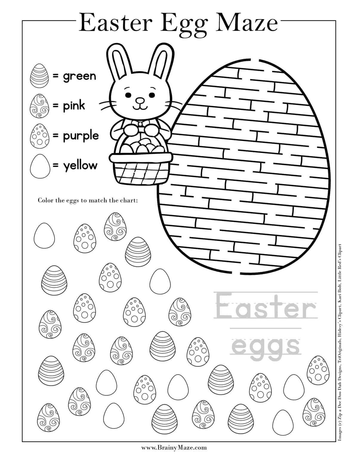 13 Free Printable Easter Mazes For Kids In