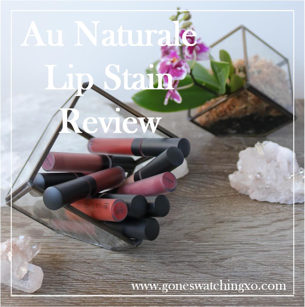Au Naturale Cosmetics Su/Stain Matte Lip Stain Swatches