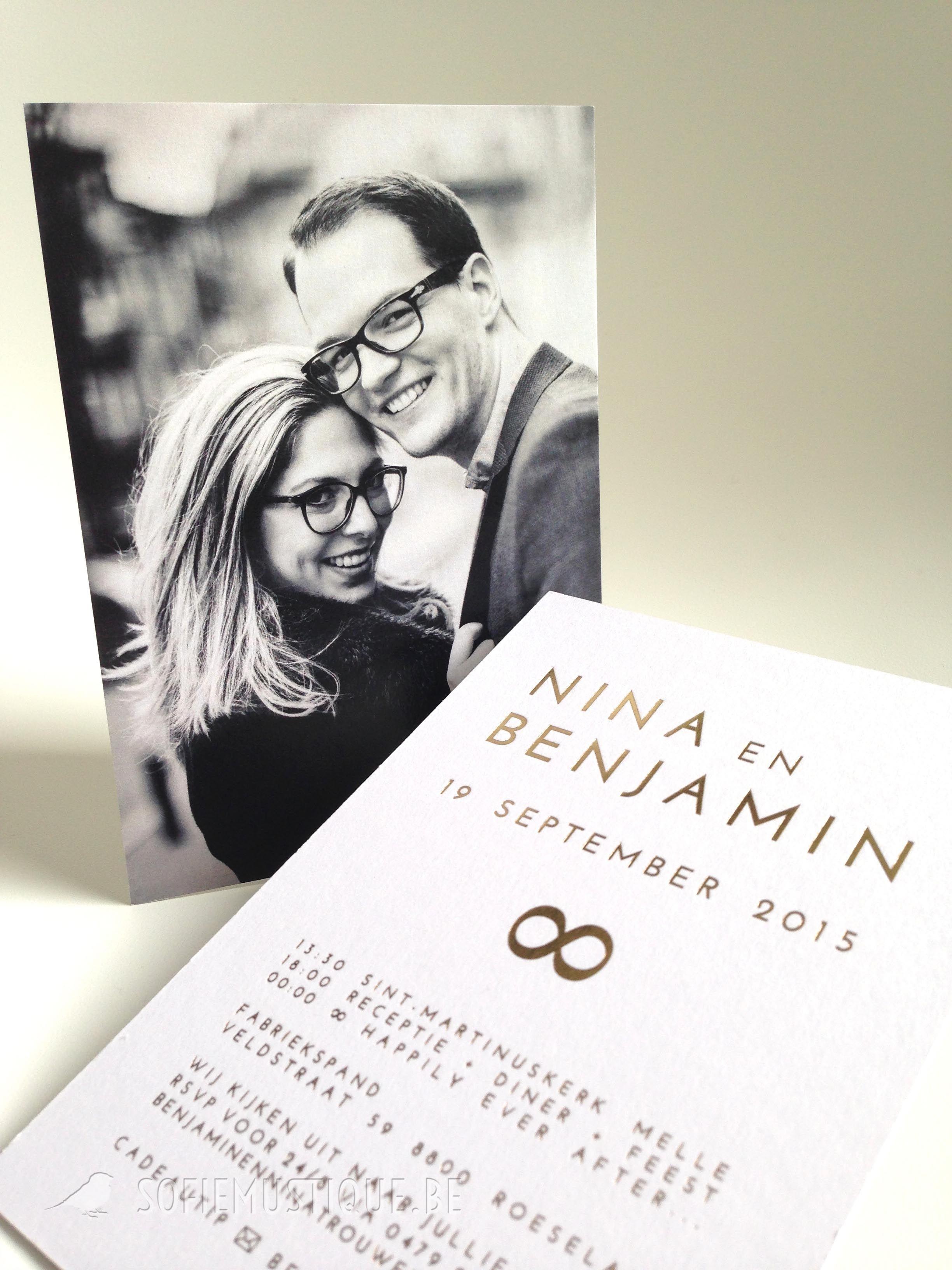 Huwelijksuitnodiging Delphine Wouter Bruiloft