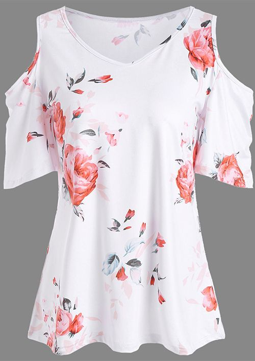 UK Women Cold Shoulder Round Neck Sleeveless Floral Lace Slim Top T-Shirt Blouse
