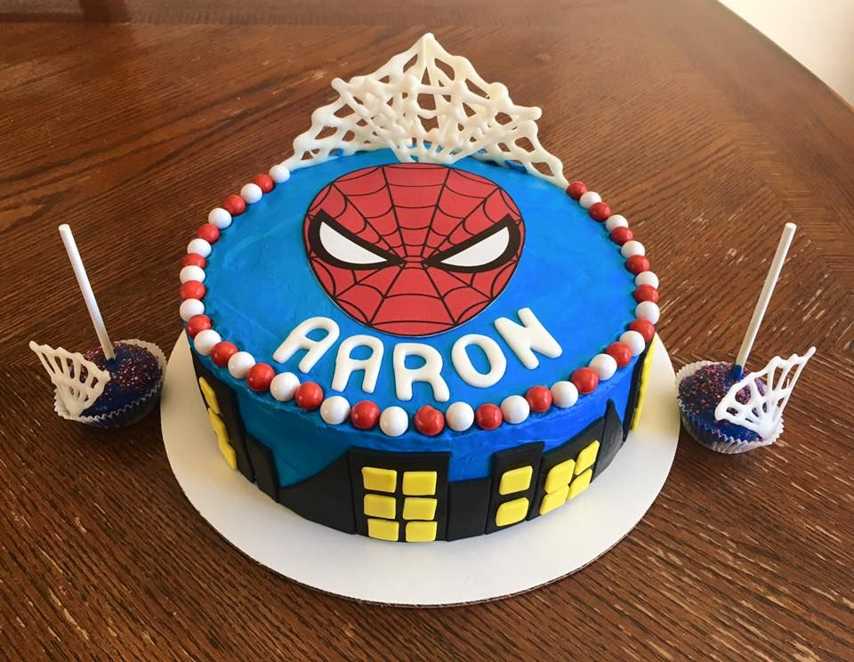 Spiderman Birthday Cake March 2017 My Cakes Pinterest