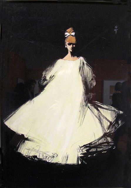 Rene Gruau illustration for Diorling, Christian Dior's new perfume launched in 1963