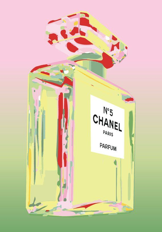 Chanel No 5 No5 No.5 Andy Warhol Print Poster - Pop Art, French, Vintage, Art Deco #andywarhol