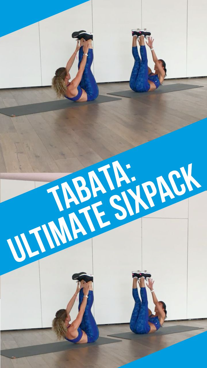 Bauch weg Übungen im Video: 4 Minuten Tabata Ultimate Sixpack Workout #workoutchallenge