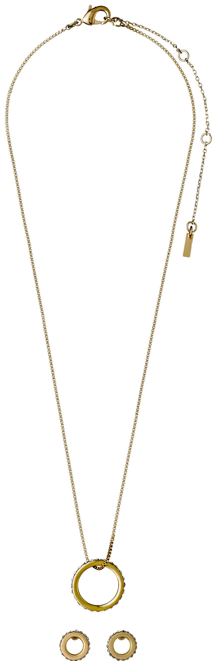 Awesome buy pilgrim gold plated elegant jewellery set na for