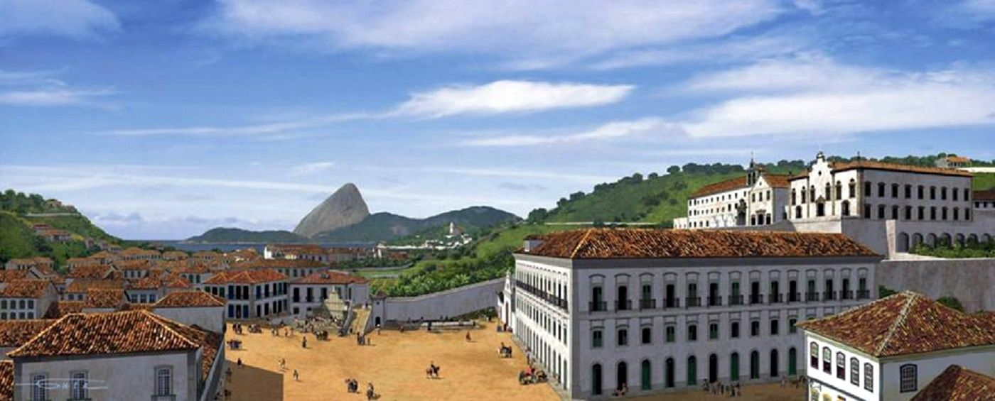 Largo da Carioca em 1824.  https://www.facebook.com/RioDeJaneiroQueNaoVivi/photos/pb.176591109052485.-2207520000.1429292228./845134562198133/?type=1&theater