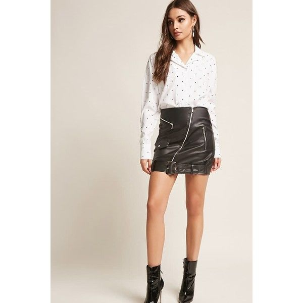 381011c7c8 Forever21 Faux Leather Mini Skirt ($30) ❤ liked on Polyvore featuring skirts,  mini