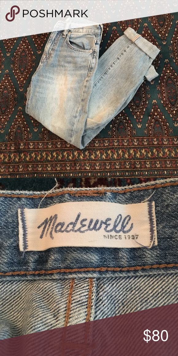 """Madewell """"The Perfect Summer Jean"""" Size 24 The most flattering jeans in existence. Only selling hem because they don't fit. Perfectly worn in, super-soft denim. These run a little big, so they'd fit a typical size 25. Madewell Jeans"""