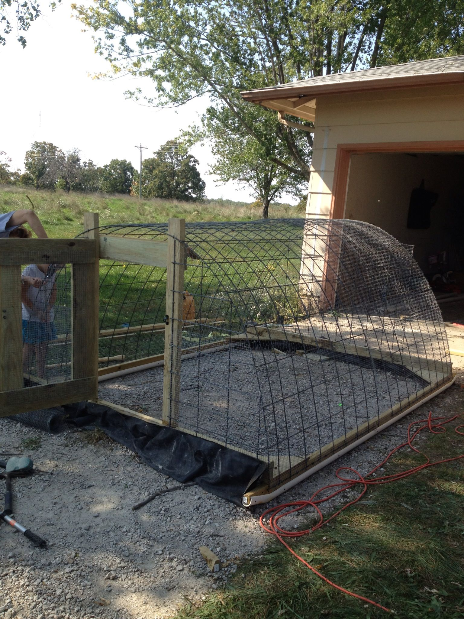 chicken tractor love the door on this one chickens pinterest