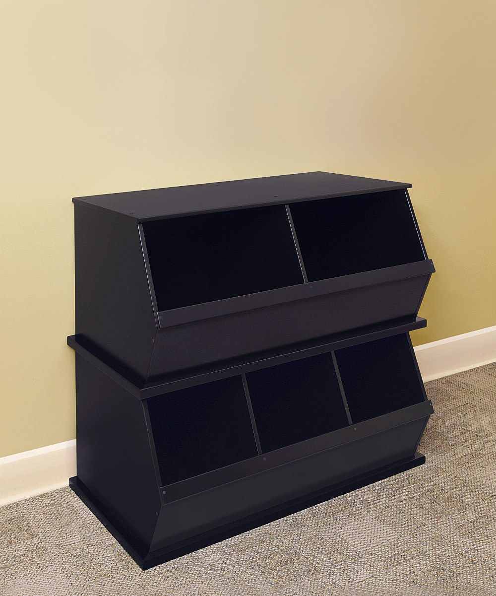 Espresso Two-Bin Storage Cubby