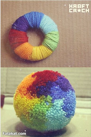 اشغال يدوية منوعة بالصور منتدى فتكات Pom Pom Crafts Flower Diy Crafts Diy Arts And Crafts