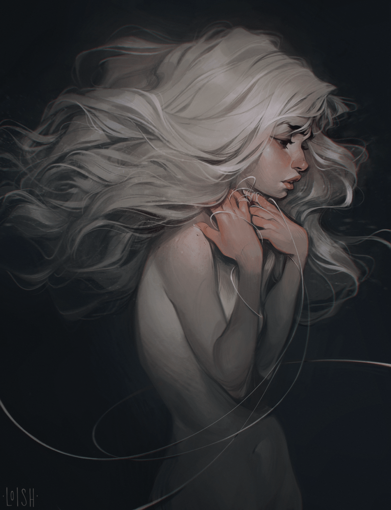 By Loish - Study this collection of beautifully rendered locks to get some inspiration for the mane of your next digital painting. #digitalart #artinspiration