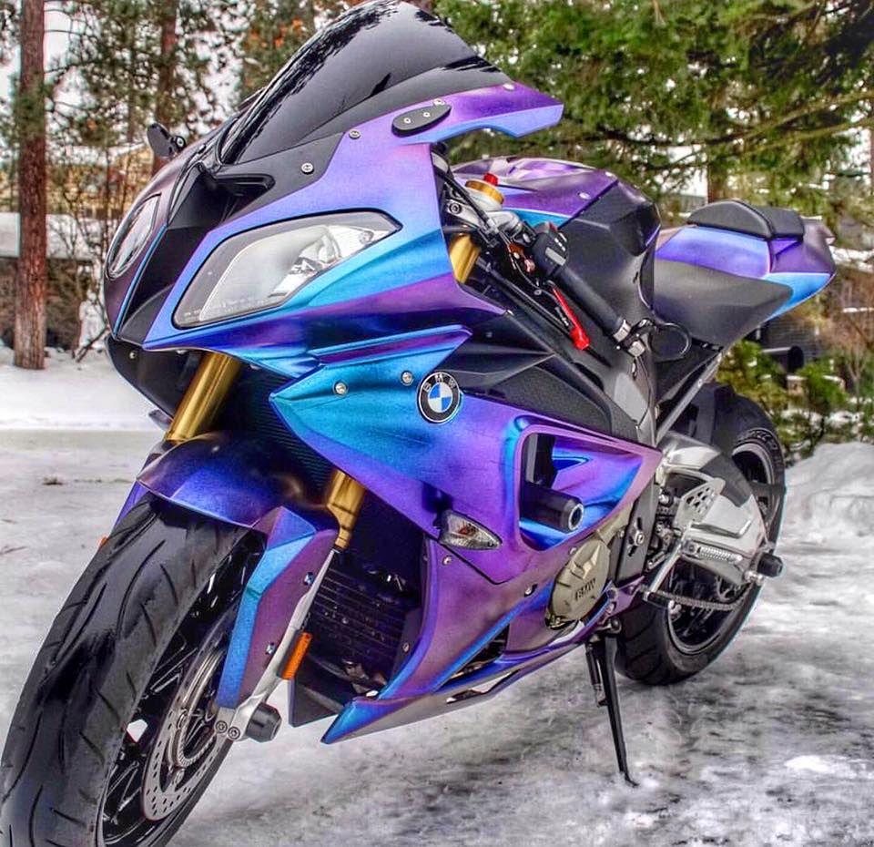2014 BMW S1000RR Blue Purple Motos deportivas, Motos
