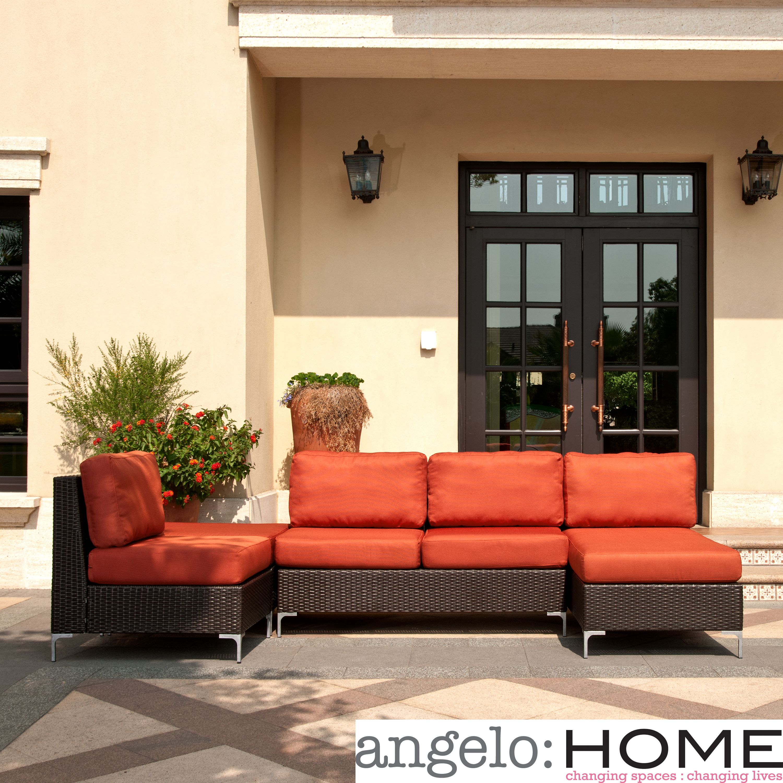 Handy Living Napa Springs Red Tulip 4 Piece Indoor Outdoor