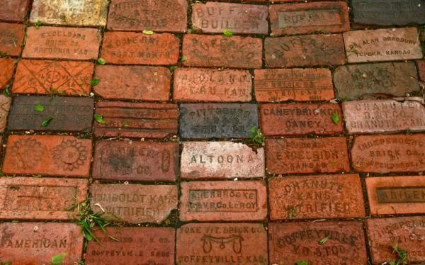 The Engraved Bricku0027s Interspersed In Bradburyu0027s Patio Feature The Names Of  Brick Companies And Kansas Towns