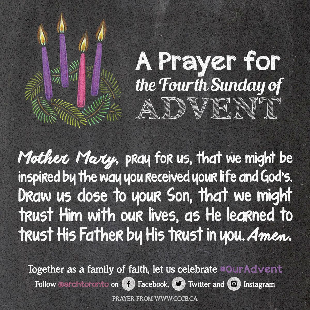 Prayer for the Fourth Sunday of Advent #ouradvent   Daily ...
