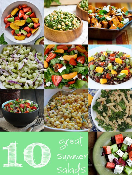 10 great summer salads #summertime #salads #food #saladideas