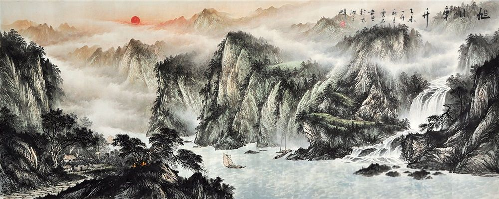 Chinese Painting Mountain Large Paintings Modern Art Famous Artists Landscape Painting Large Landscape Painting Chinese Landscape Painting Landscape Paintings