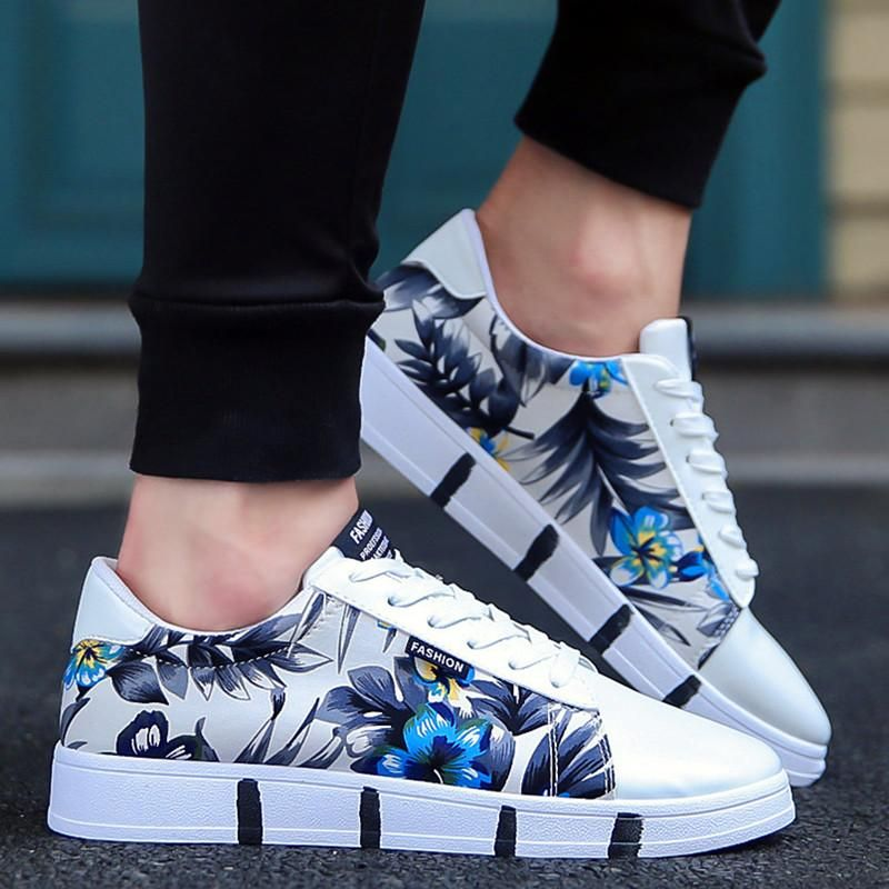 OBBVY-Printed Casual Shoes Low-top