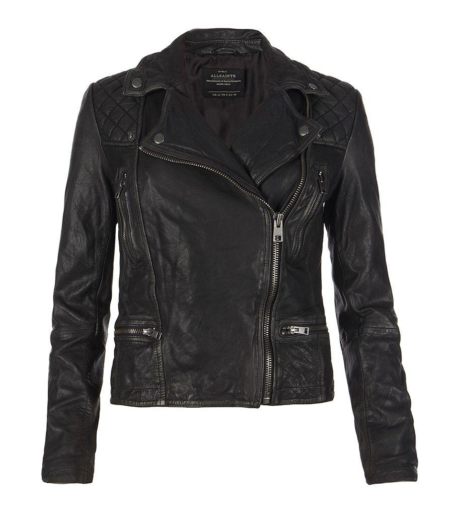 Cargo Leather Biker Jacket, Women, Leather, AllSaints ...
