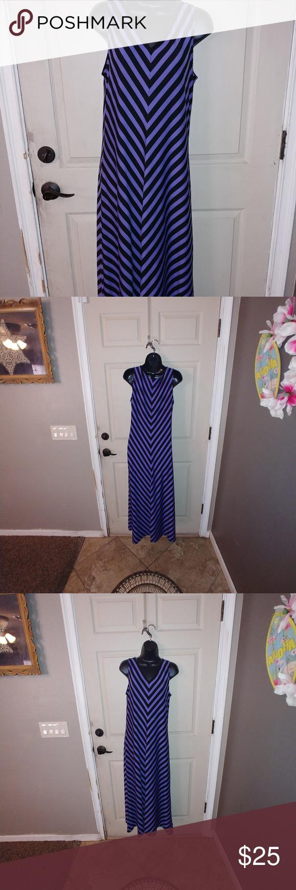 {westbound} purple striped maxi dress Size small Westbound brand Purple and black stripe Maxi dress *************** Bin#100 Westbound Dresses Maxi