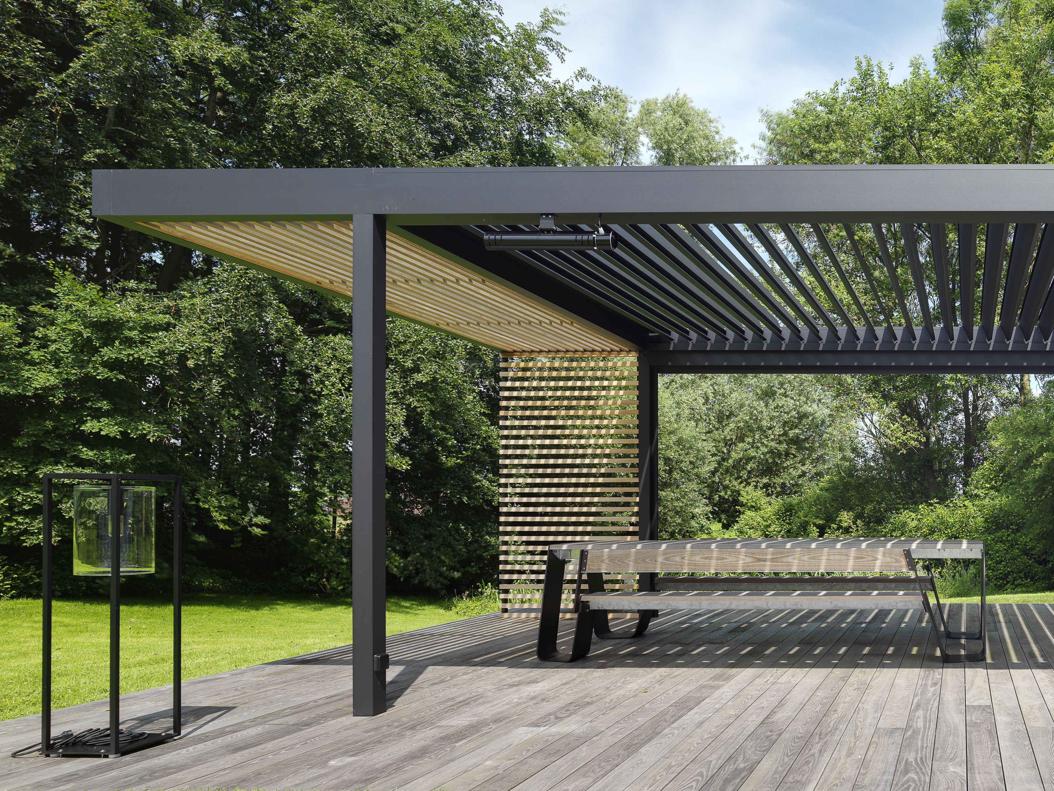 Patio Louvre Roof Cole Road Iq Outdoor Living In 2020 Outdoor Pergola Pergola Plans Pergola Patio