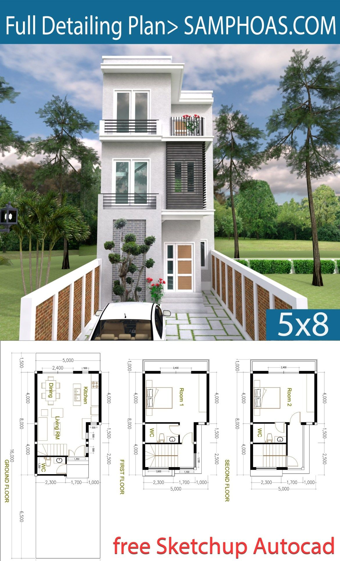 2 bedroom tiny home plan 5x8m architecture house plans tiny rh pinterest com