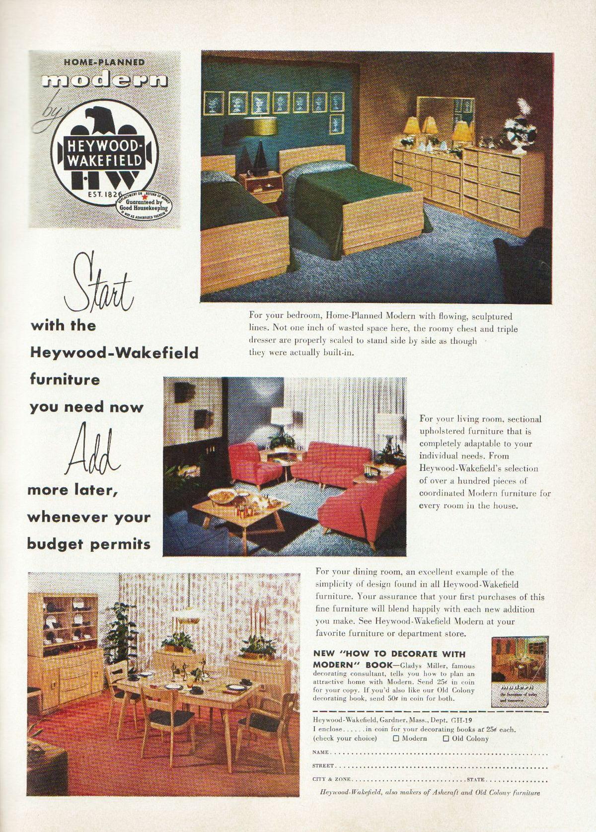 1954 heywood wakefield mid century modern home in 2019 mid rh pinterest com