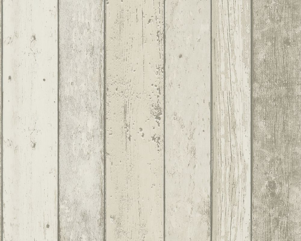 Distressed White Wood