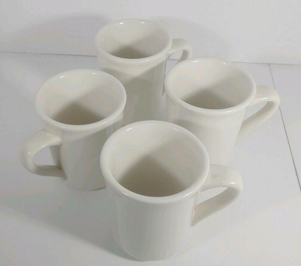"Syracuse China Coffee Mugs Restaurantware 4"", Set Of 4"
