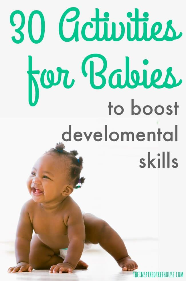 The Inspired Treehouse These Fun Activities For Babies Will Keep Little Ones Entertained While Infant Activities Baby Development Activities Baby Development