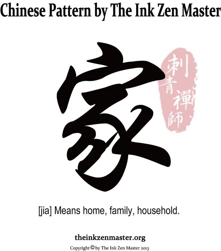Chinese Tattoo 家 Chinese Tattoo Chinese Patterns Ink